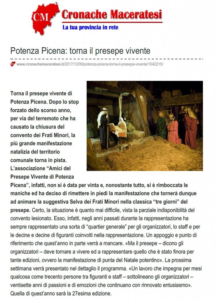 Cronache Maceratesi 9.12..2017. (1)